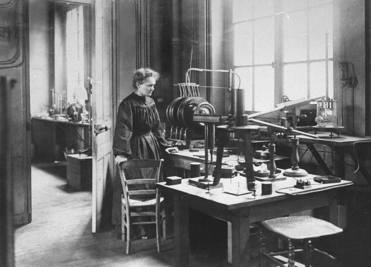 Madame Curie in Lab