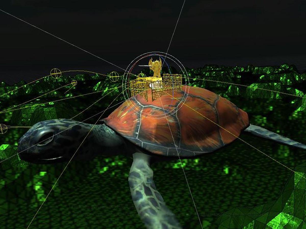 Red Flute Sea Turtle